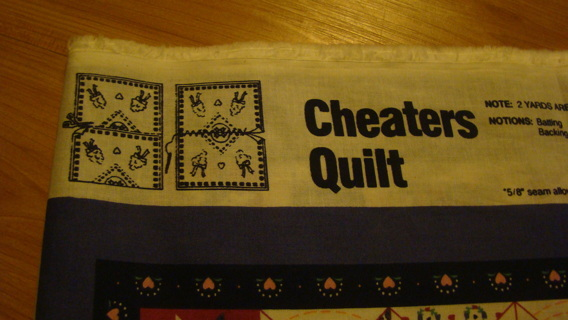 cheater quilt top