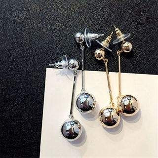 Bling Ball Earrings Women Long Chain Drop Dangle