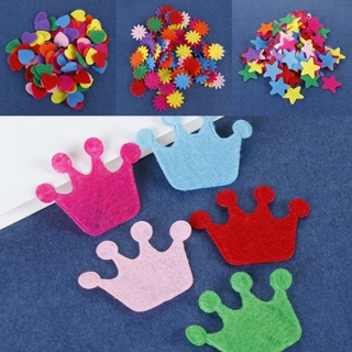 [GIN FOR FREE SHIPPING] 50PCS 25mm Padded Felt Heart Appliques Crafts Wedding Making