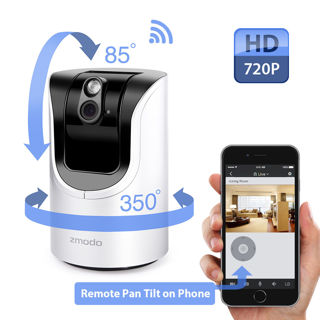 Zmodo Pan Tilt 720p HD Wireless IP Network IR Home Security Camera Two-Way Audio