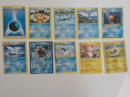 10 POKEMON TRADING CARDS LOT 8