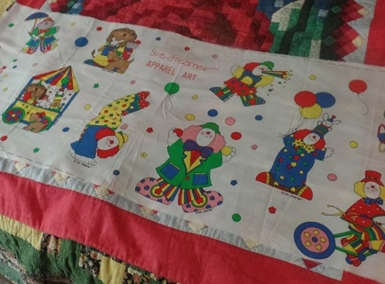 Circus Appliques for Apparel, 1/2 Yard, 10 Different Designs, 100% Cotton - APA-001