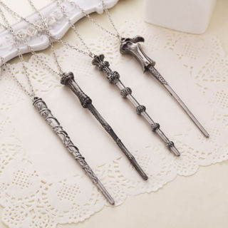 Fashion Style Harry Potter Movie Magic Wand Pendant Necklace Party Gifts Jewelry