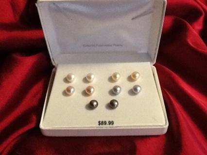 Cultured Freshwater Pearl Earring Set
