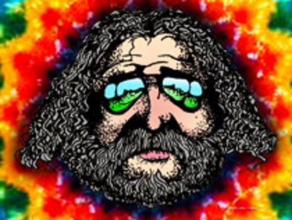 FREE Original Grateful Dead Jerry Garcia Head Hand Drawn Art Tie Dye Wallpaper