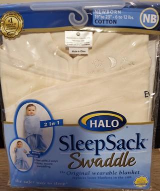 NEW - HALO - Baby Sleep Sack Swaddle - size Newborn