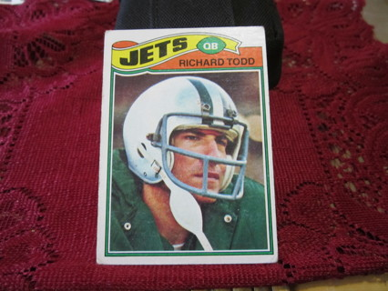 "***1977 TOPPS VINTAGE "" ROOKIE "" FOOTBALL CARD***RICHARD TODD***NEW YORK JETS***"