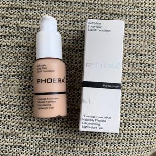 BNIB Phoera Soft Matte Concealer Liquid Foundation - Nude # 102