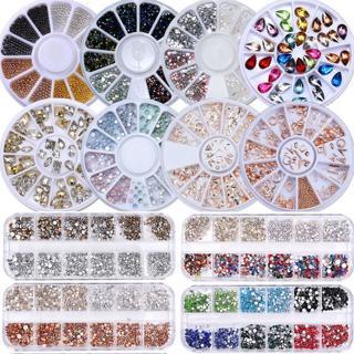 Nail Rhinestones Studs Rivet Chain Beads Rose Gold Manicure 3D Nail Art Decors
