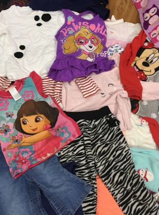 GIRL'S CLOTHING LOT TODDLER-TO-KID CLOTHES STUFFED LOT #5 BIG BOX KID'S CHILDREN