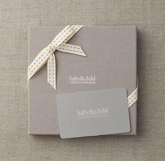 20 RH Baby & Child Gift Registry Cards
