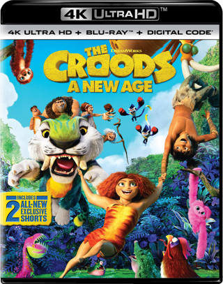 Brand New The Croods A New Age 4 K + Blu-Ray + Digital Code