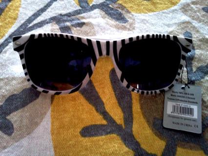 Zebra print sunglasses! BRAND NEW with tags!