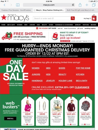 Free $10 gift code Macy's (i will email the code)expires dec.24/2014