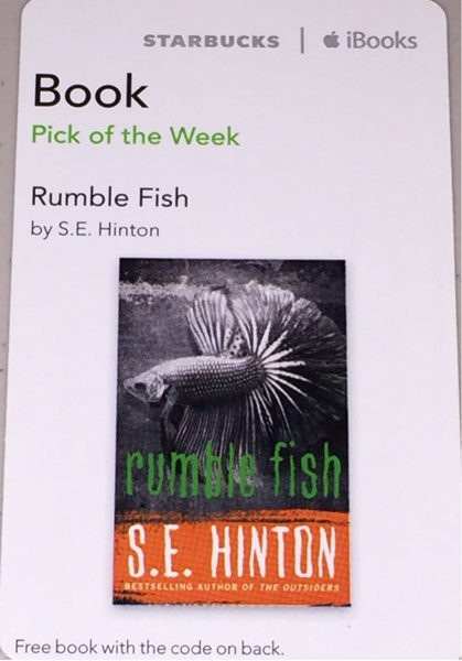 Free rumble fish by s e hinton digital download iphone for Rumble fish book
