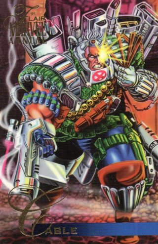 1995 Marvel Comic Trade Card: Cable