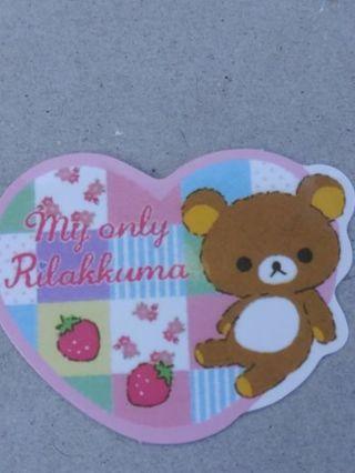 My only Rilakkuma sticker flake No refunds! Good quality! Lowest gins no lower!