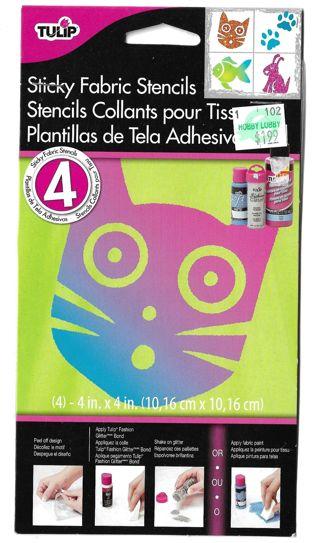 TULIP Sticky Fabric Stencils- 4X4 CATS