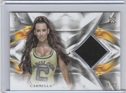 WWE Wrestling 2018 ~ CARMELLA Authentic Event UUsed Shirt Relic #d 68/99 FABULOUS