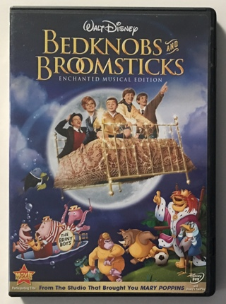 Walt Disney Bedknobs and Broomsticks Enchanted Musical Edition DVD Movie - Mint Disc!