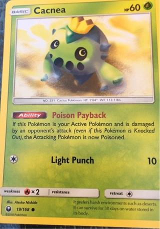 PoK'eMoN/ Cacnea- Poison Payback- Light Punch