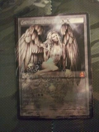 Magic the Gathering Custom-Altered Sorcery Entreat the Angels.