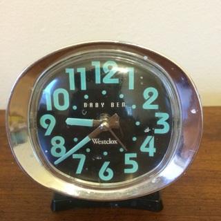 Vintage Baby Blue 1960s Alarm Clock