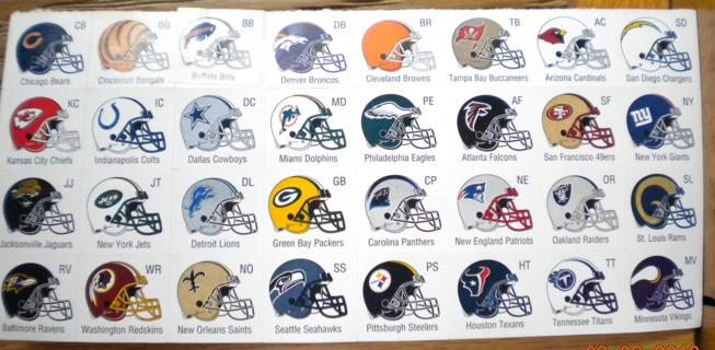 Free NFL Football Helmet Stickers  Football  Listiacom