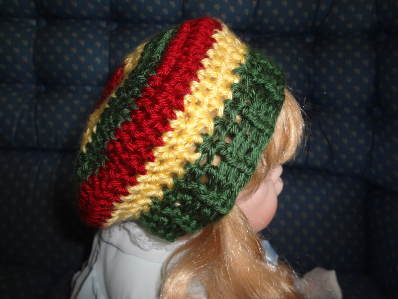 Free Crochet Pattern For Rasta Hat : Free: Baby Crochet Rasta Slouchy Hat -- Crocheted Bob ...