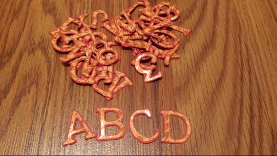 "1"" fall scrapbooking shadow letters"