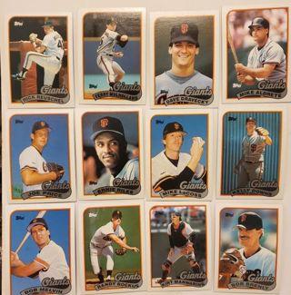 Collection of 12 Vintage San Francisco Giants Baseball Cards lot #47 Rick Reuschel Ernie Riles