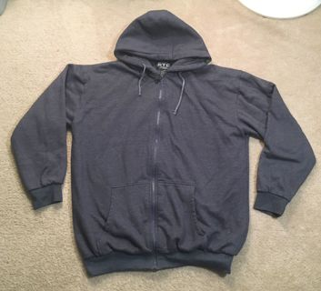 1 Dark Navy Blue Heather Hoodie Sweatshirt Thermal inside Men's 2XL