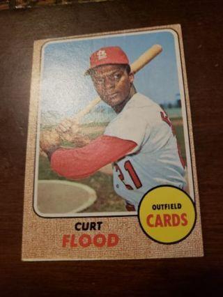 1968 Curt Flood St. Louis cardinals vintage baseball card