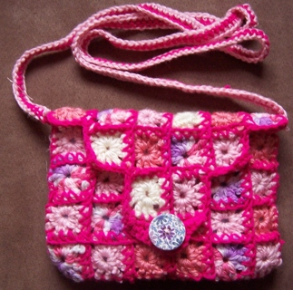 New Granny Square Crochet Crossbody Purse