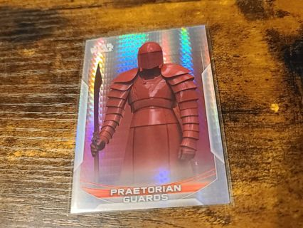 2020 Star Wars Perspectives Praetorian Guards Prism refractor card #'d 161/299