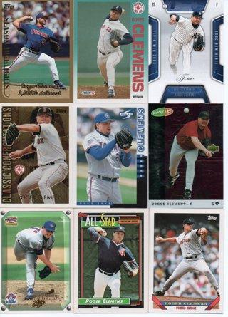 (9) Roger Clemens Baseball Cards