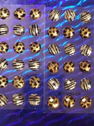 Animal print gemstones