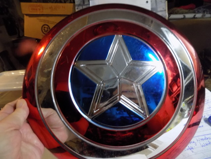 12 inch round Capt. America Metallic shield