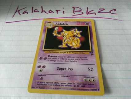 Pokemon Card Base Set 2 Kadabra