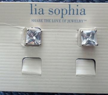 Lia Sophia CZ earrings over 1 karat Valentine's gift