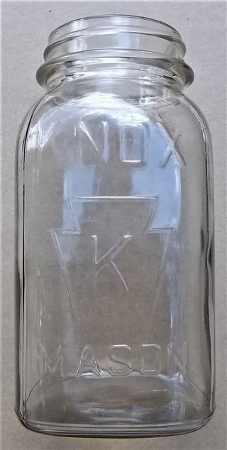 KNOX (K in Keystone) Quart Mason Jar 14