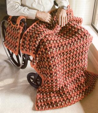Free Crochet Patternwheelchair Walker Lapghan With Foot Pocket