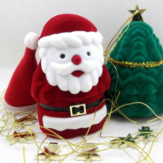 [GIN FOR FREE SHIPPING] Santa Claus Cute Ring Jewelry Box
