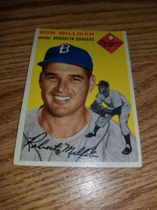 1954 Topps Baseball Bob Milliken #177 Brooklyn Dodgers,VGEX condition,Free Shipping!