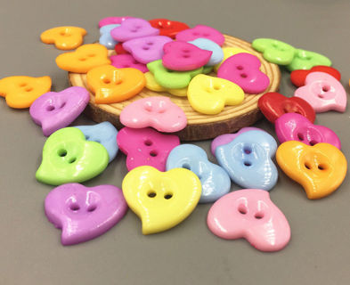 [DIY] 20pcs Love Heart Finger Sign Resin Button for Sewing/Scrapbooking/Handmade Project/Craft Toys