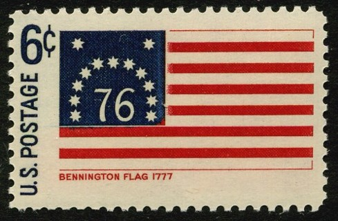 USA #1348  1968 Historic US Flags - Bennington Flag, mint