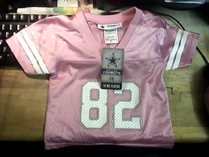 4a00d5e98 BN Jason Witten 82 Dallas Cowboys Football Jersey Pink Girl Toddler Kid  Size 2T