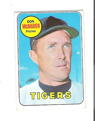 Don McMahon 1969 Topps card