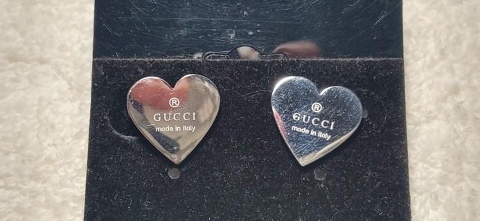 Faux Gucci Heart studs