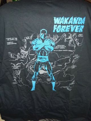Loot Crate Exclusive Marvel Comics Black Panther Wakanda Forever Adult XL T-Shirt